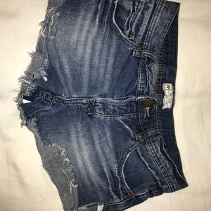Free people dark denim shorts